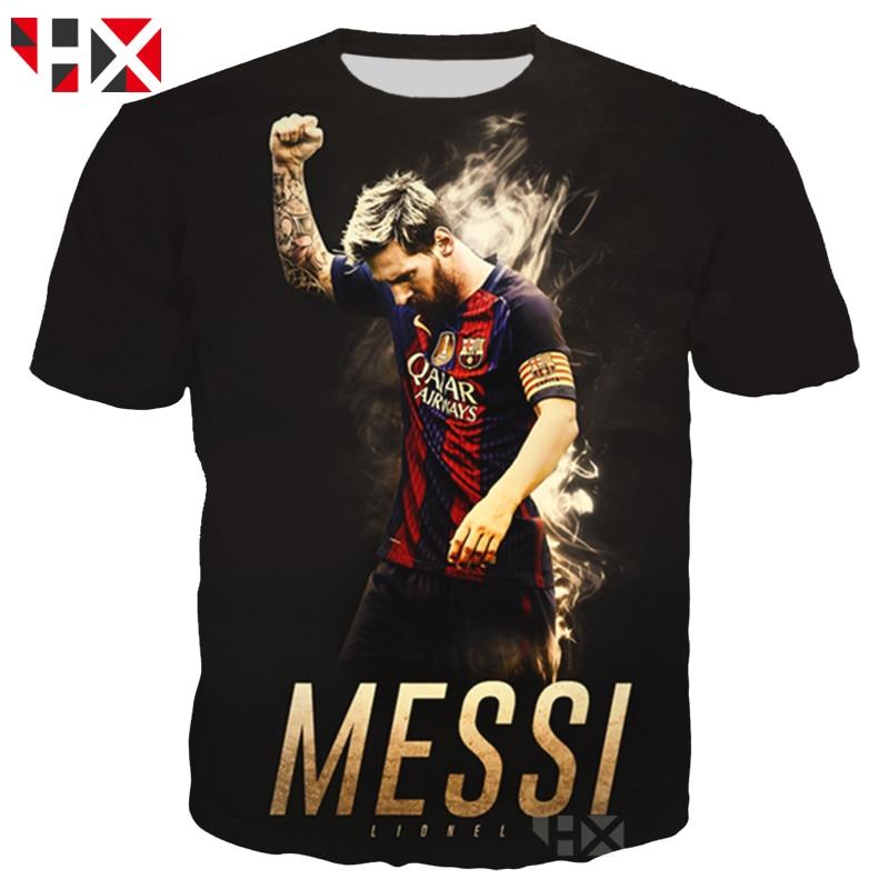 HX Newest World Cup Football Star Lionel Messi 3D Print men   T     Shirt  /Sweatshirt/Hoodie Unisex   T  -  shirt   Messi Harajuku Tops A126