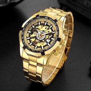 Image 3 - FORSINING Men Fashion Skeleton Mechanical Watch Casual Sport Waterproof Mens Classic Business Wristwatch Relogio Masculino