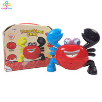 Hot Selling Funny B O Crab With Light Music Baby Pet Toy Children Intelligence Plastic Toy