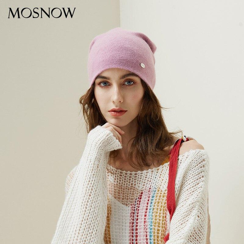 Winter Hüte Für Frau 2018 Beanies Kaninchen Haar Gestrickte Hut Mädchen Herbst Weiblich Beanie Wärmer Motorhaube Damen Beiläufige Kappe 8 farbe