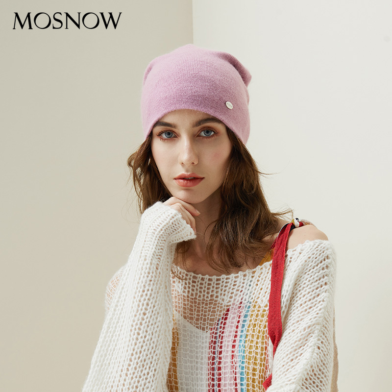Winter Hats For Woman 2019 Beanies Rabbit Hair Knitted Hat Girls Autumn Female Beanie Warmer Bonnet Ladies Casual Cap 8 Color