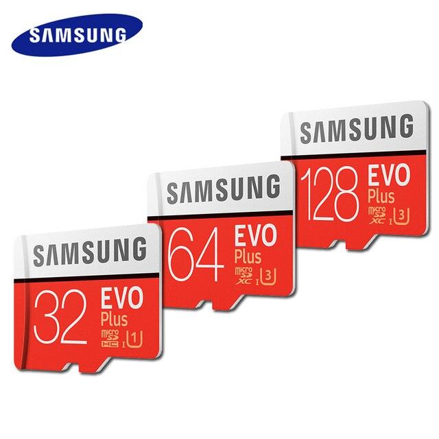 Карта Microsd SAMSUNG 128 Гб 64 ГБ 32 ГБ оперативной памяти, 16 Гб встроенной памяти, 8 Гб 256 100 МБ/с. Micro SD флэш-карта памяти TF карты для мобильного телефона Class10 SDHC/SDXC