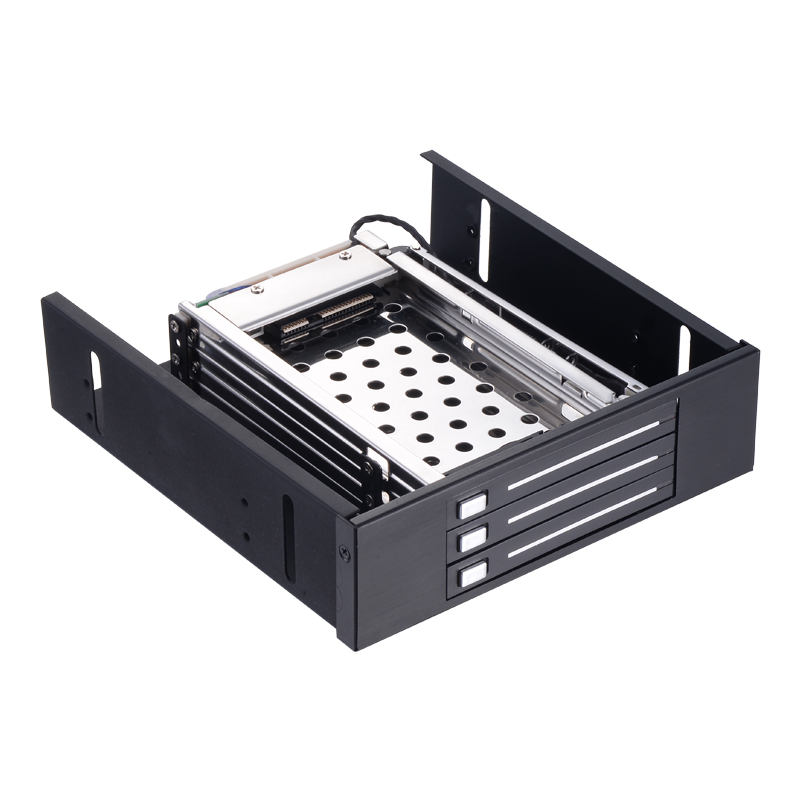 3 bay 2 5in sata drive rack aluminum internal enclosure 2 5 sata hot swap mobile