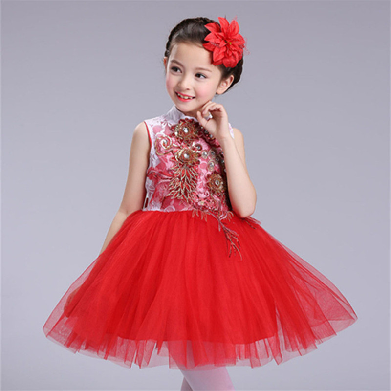New Children's Clothing Girl Princess Party Dress for Girls Performance Dance Dresses Kids Wedding Dress Clothes Vestidos GDR325 gril flower dress multi storey white clothes stage girl performance children show clothes for dance with a pair of glove