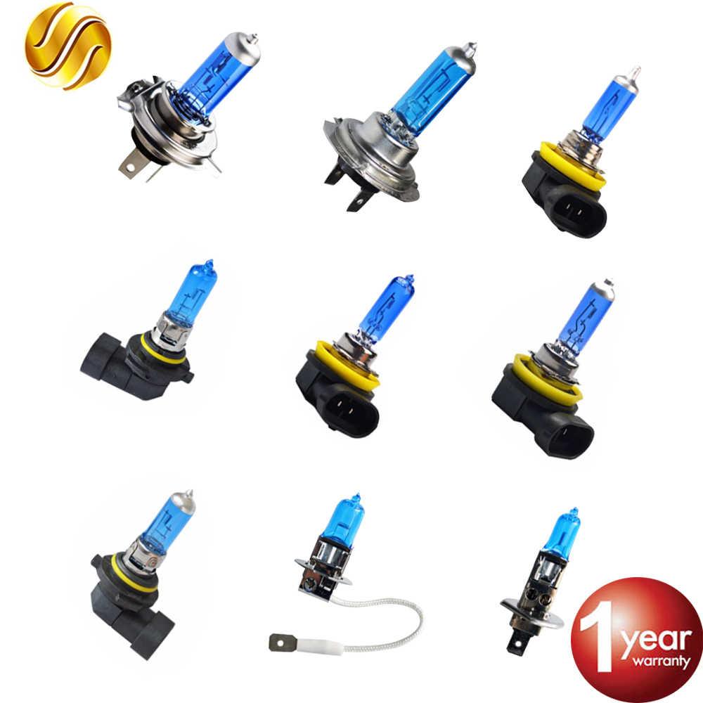 Hippcron супер белая галогенная лампа H1 H3 H4 H7 H8 H9 H11 9005 HB3 9006 HB4 60 W/55 W 5000Kz Стекло темно-синий Автомобильные светодиодные лампы фар