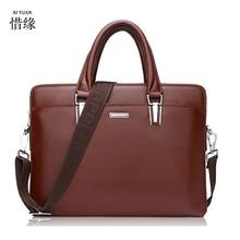 XIYUAN BRAND men Leather zipper black Shoulder messenger Bag For A4 Files Laptop Male Crossbody Handbags man Dress bags brown