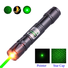 High Power green Laser Pointer hunting lazer tactical sight Pen 532 nm 5mW 303 Burning laserpen with a match Hunting laser