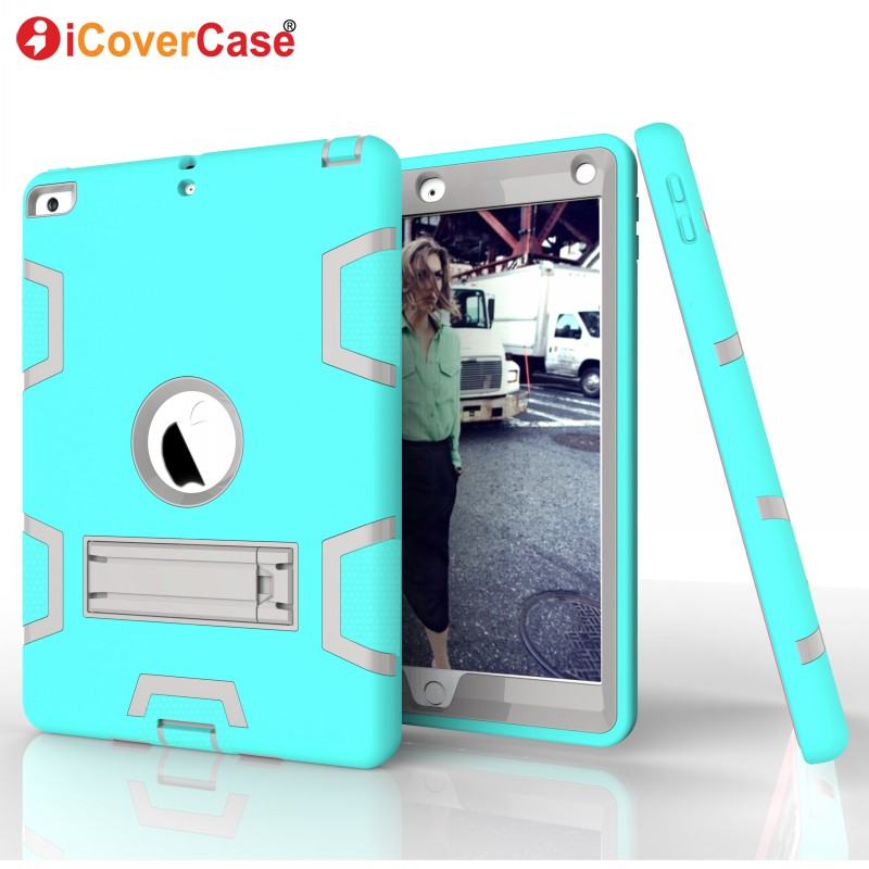 Pad Cases For Apple iPad Air iPad 5 Cover Soft Hard Protector Skin Case Stand Front Back Protect Shell iPad5 Tablets Accessory