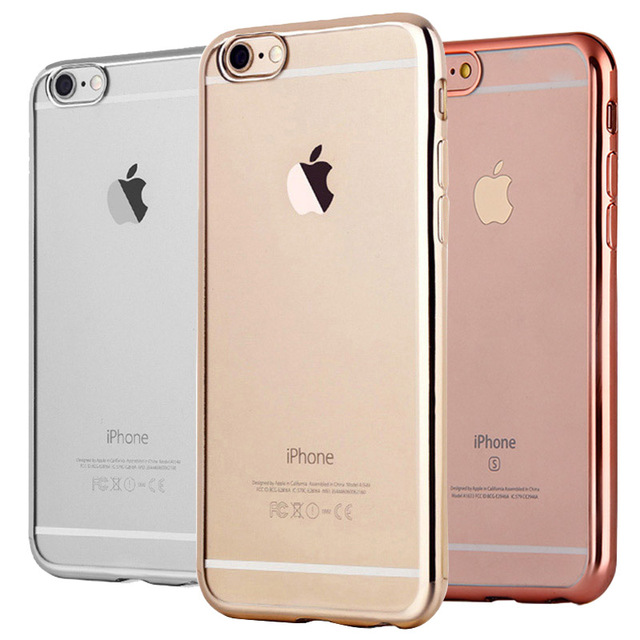 Case For Apple iPhone 6 6S Plus TPU Silicone Ultra-thin Luxury Soft Clear Transparent Dual Hybrid Back Cover Cases 6 6S Coque