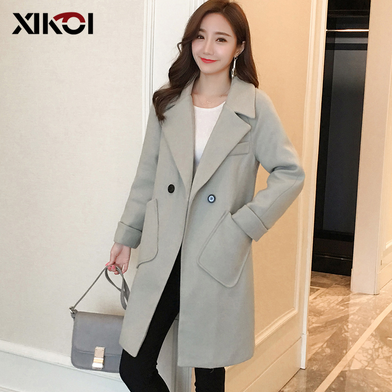 XIKOI High Quality Women Winter Coat Female Long Woolen Jacket New Autumn And Winter Clothing Wool Coat Female Thick Loose Coat