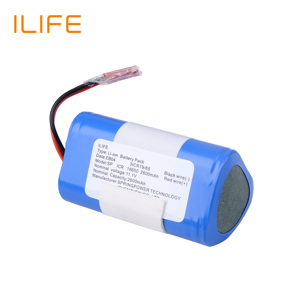 ILIFE  Original High quality for V3s Pro  Battery pack 2600mAh Li-ion Rechargeable Battery Replacement 3 6v 2400mah rechargeable battery pack for psp 3000 2000