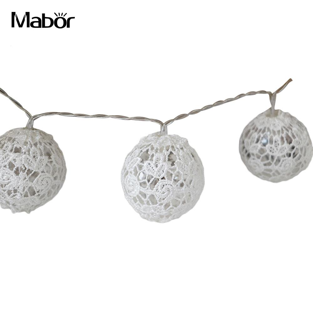 Light Strng Outdoor Decor Fairy Lights Retro Lace Ball Creative Lighting Fixture Holiday Lighting