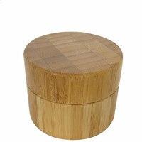 100 шт./лот 50g бамбуковый контейнер пластиковые баночки для крема для косметической походная упаковка пустой Пластик макияж баночка с крышко