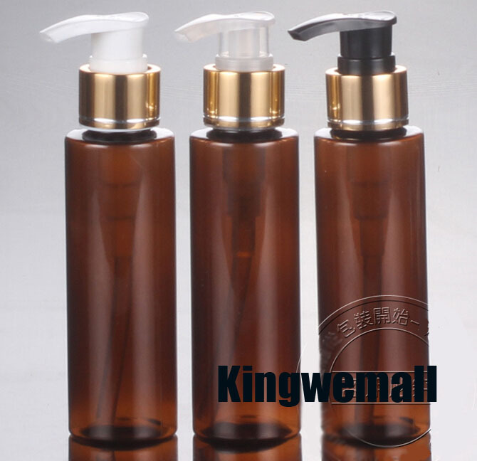 250ml Brown Empty Lotion Bottles Pet 250cc Shower Gel