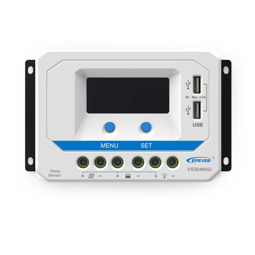 30A 45A 60A VS3048AU VS4548AU VS6048AU 12V 24V 36V 48V EPSolar PWM Viewstar Solar Charge Controller