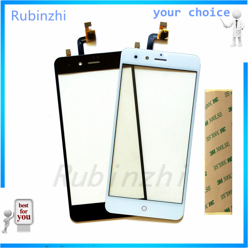 RUBINZHI Mobile Phone Touchscreen Sensor For <font><b>ZTE</b></font> <font><b>Nubia</b></font> <font><b>Z11</b></font> <font><b>mini</b></font> NX529J Z11mini <font><b>Touch</b></font> <font><b>Screen</b></font> Digitizer Panel with Tape image