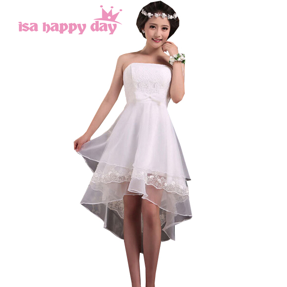 vestidos de festa champagne beautiful women formal   bridesmaid     dresses   dresse low high short front long back tulle   dress   B1259