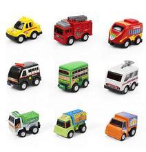6 teile/los Neue Klassische Junge Mädchen Lkw Fahrzeug Kinder Kind Spielzeug Mini Kleine Ziehen Auto spielzeug beste geschenk für kinder WYQ