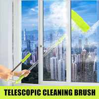 196cm Upgraded Telescopic High rise Window Cleaning Glass Cleaner Brush For Washing Window Dust Brush Clean Multi Windows