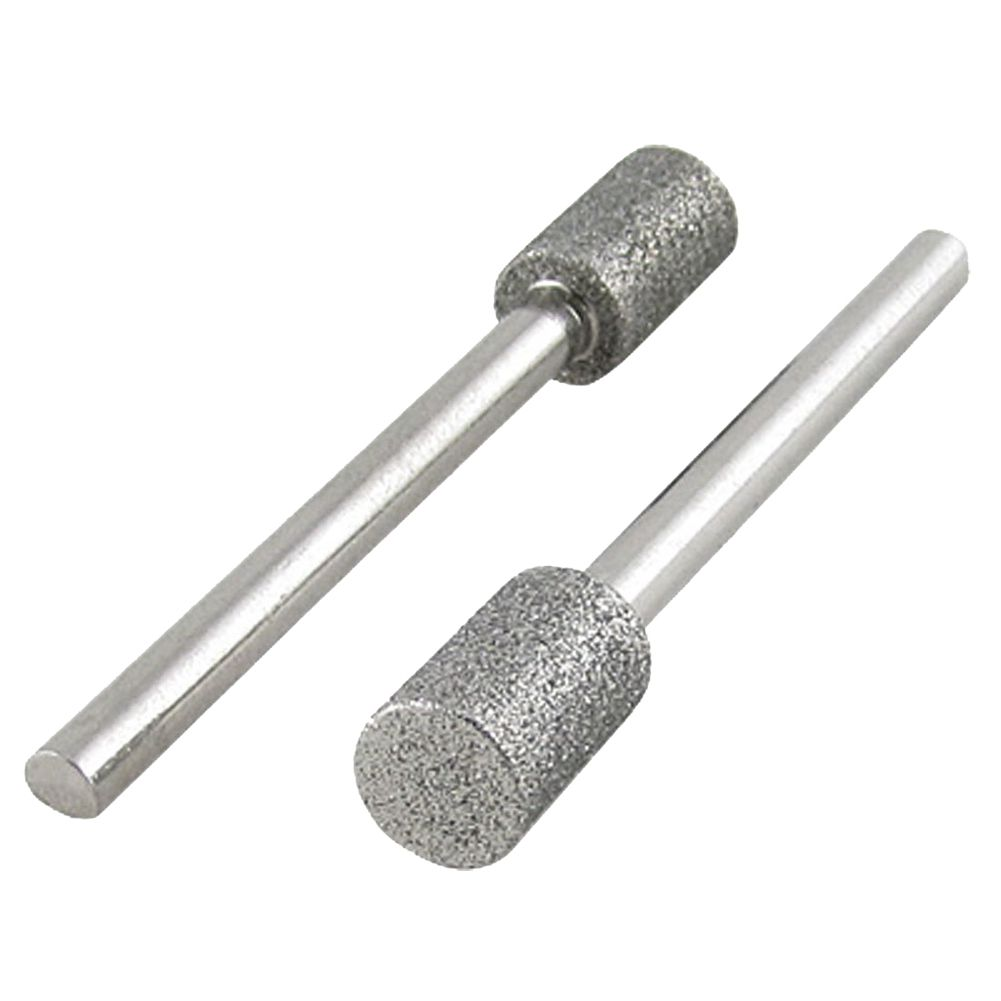 THGS 2 Pcs 3 x 6mm Diamond Drill Bits for Electronic Nail Files