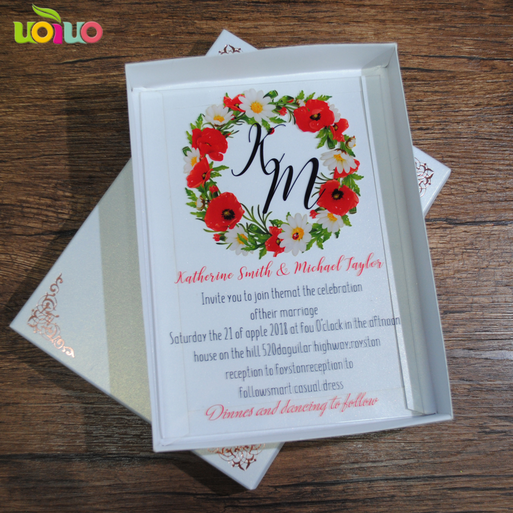 Us 65 0 Hot Sell Baby Baptism Invitation Card Printing Flower Nice Unique Invitation Card Wedding Favor Design In Cards Invitations From Home
