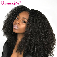 Oxeye girl Kinky Curly Wig Lace Front Human Hair Wigs For Women Natural Black Brazilian Wig Non Remy Hair Wigs 150% 180% Density