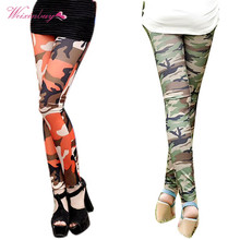 Camouflage Print Stretch Trouser Army Leggings Pants Autumn Women Graffiti Style Pants Female Slim Pants