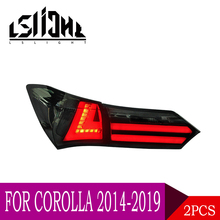 LSlight For Corolla 2014 2015 2016 2017 2018 2019 LED Tail Light Assembly lights Bulb Lamp Running Lights Stop Brake Turn Signal lslight led tail light assembly for toyota corolla 2014 2015 2016 2017 2018 daytime running lights stop brake turn signal drl