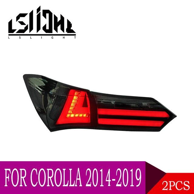 LSlight For Corolla 2014 2015 2016 2017 2018 2019 LED Tail Light Assembly lights Bulb Lamp Running Lights Stop Brake Turn Signal