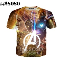 Summer Men Women 3D Print Latest Movie Avengers Endgame Short Sleeve Cool T shirt Fashion Sweatshirt Pullover Harajuku tees Tops