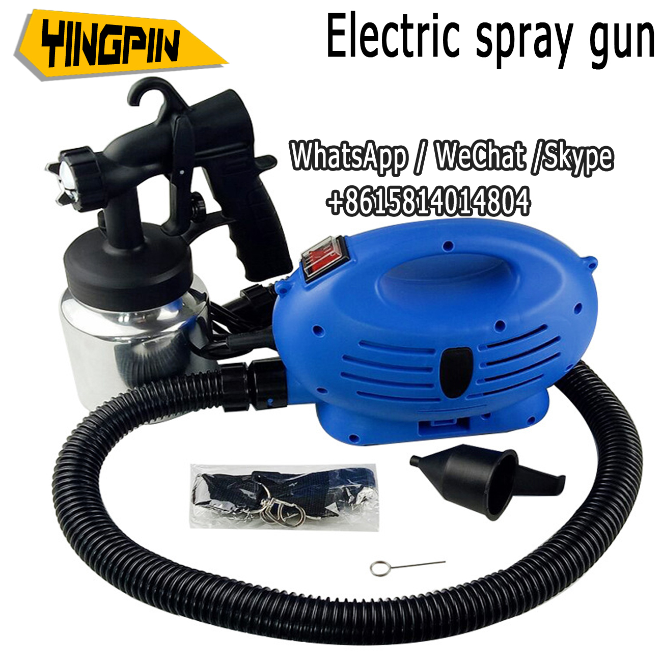 Electric spray gun with air compressor spray mode spray paint HVLP automobile furniture steel paint spray