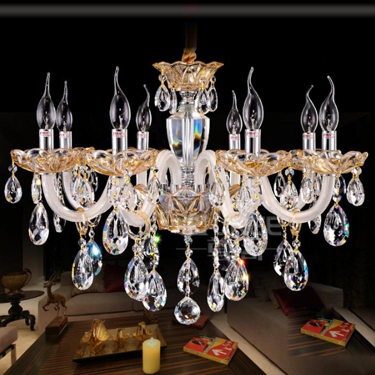 Luxury Crystal Chandeliers lights loft pendant chandeliers for living room dining room AC 110 240V luxury crystal chandeliers chandelier for living room 6 light chandelier - title=