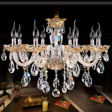Lustres LLED Crystal Chandeliers Lampadario Luxury Chandelier 6 8 10lights Living room dining light
