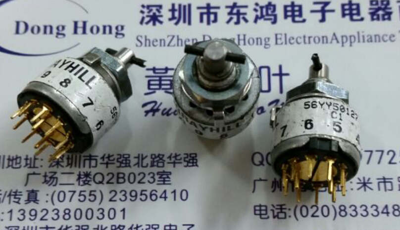 2PCS/LOT American GRAYHILL imports rotating band switch, 56YY50127 double knife, 5 gear 2x4 double band switch gear 12 feet