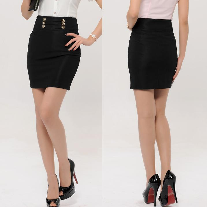 Short Black Pencil Skirt - Dress Ala