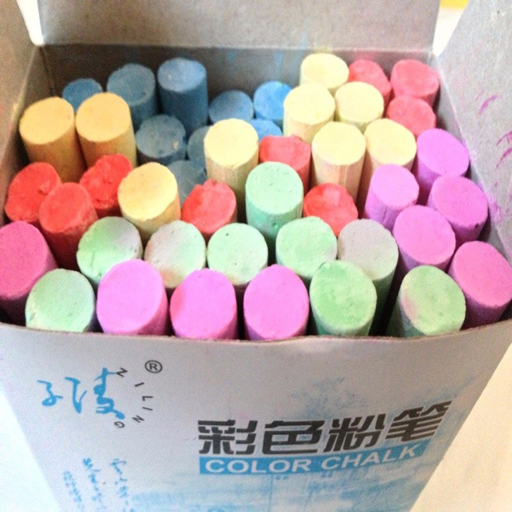 MIRUI 45 Pcs/Box Colored Chalk For School Stationery & Office Supply