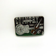 CHICCHERRY COUNTRY 2017 the most zinc alloy cowboy guitar music buckle for 4.0 belt