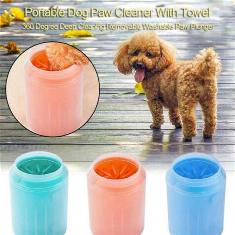 Dog Paw Cleaner Cup Silicone Pet Cat Foot Washer Bucket Gentle Brush Paw Clean Comb Quickly Clean Paw Dirt Pet Foot Wash Tools
