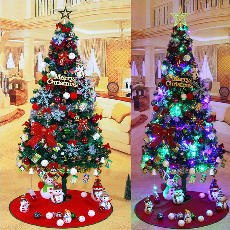 150cm artificial christmas tree with decorations for christmas house or hotel decorations party supplies deluxe christmas tree in trees from home garden - Decorated Artificial Christmas Trees