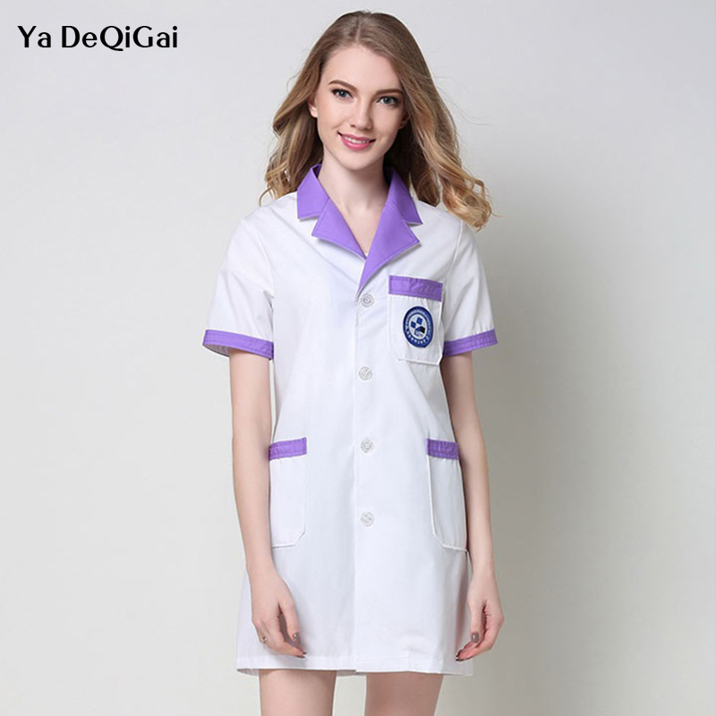 Robe Lab Coat Hospital Male And Female Work Uniforms Korean Cosmetic Surgery Pharmacist Beauty Salon Uniforms Nurse Accessories
