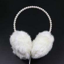 Ngọc Trai Thời Trang mới Headband Earmuff Tai Nghe Cute Girl Phụ Nữ Món Quà Ấm Plush Fluffy Nữ Tai Nghe Tai Ấm Hơn Bảo Vệ Mùa Đông