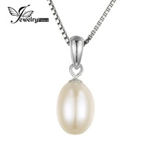 JewelryPalace 10-8mm Cultured Freshwater Pearl Pendant 925 Sterling Silver Jewelry For Women  Fine Jewelry Not Include a Chain
