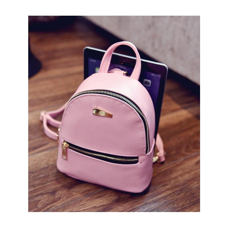 Women s Backpack 2018 Fashion School Little Backpacks For Teenage Girls LU Leather  Bag Waterproof Small BagPack Mini Backpack-in Backpacks from Luggage ... 1a5bb2627b601