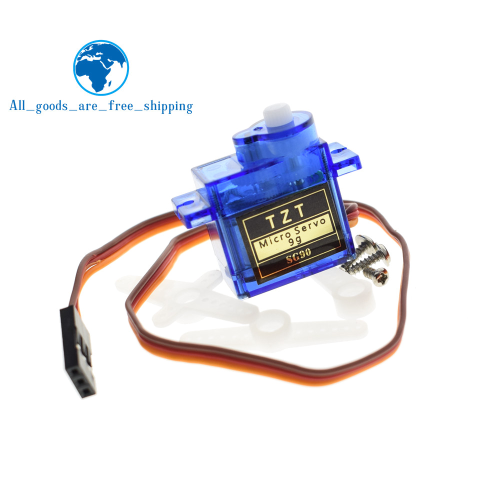 TZT Smart Electronics 1Pcs Rc Mini Micro 9g 1 6KG Servo SG90 for RC 250 450  Helicopter Airplane Car