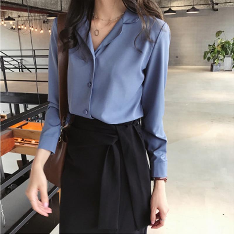 f9cbd540a6 Mulheres blusas plus size tops blusas casuais femininas blusas mujer de moda  elegante 2018 mulheres blusa camisas A1221