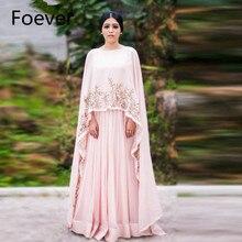 Длинные муслиновые женские розовые вечерние платья из Саудовской Аравии с глубоким вырезом длиной до пола со съемным мысом Abiye Robe de Soiree