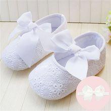 Весна Мягкой Подошвой Девушка Детская Обувь Хлопок Впервые Ходунки Мода Baby Girl Обувь Бабочка-узел Первый Sole Детская Обувь