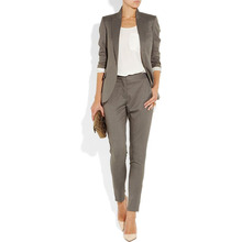 New Gray 2 piece set women formal pant suits for weddings fe