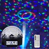 Bluetooth MP3 Stage Lights Ball RGB Crystal Magic Ball Stage Light Projector Effect LED Light
