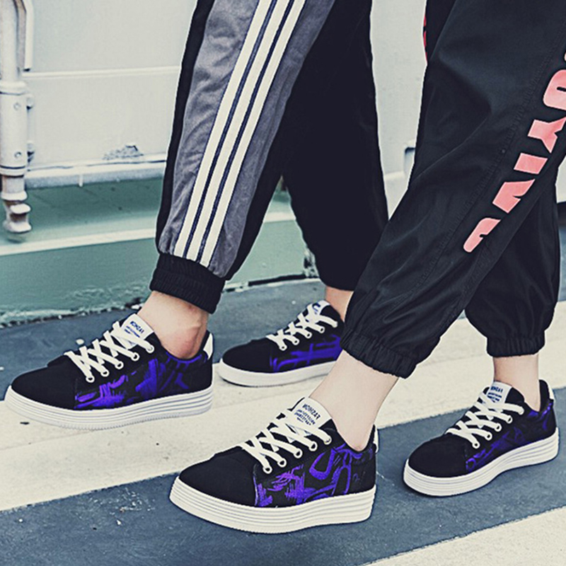 Casual-Shoes Comfortable Fashion The of Spring Lace-Up Canvas Men Men's New-Arrival